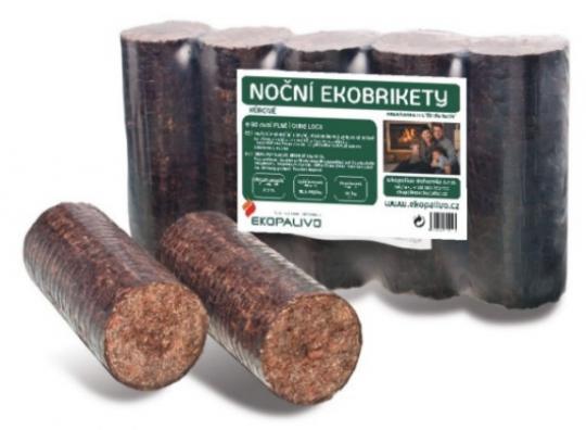 Kůrové ekobrikety - noční - Nejdéle hořící ekobrikety