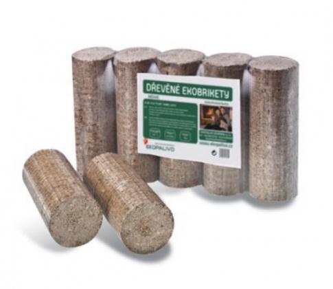Válcové ekobrikety z tvrdého dřeva - TOP - Ekobrikety s vysokou výhřevností