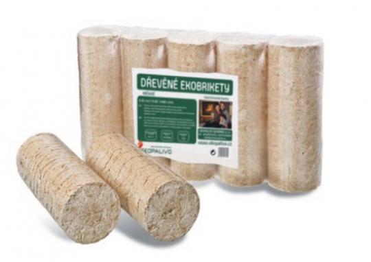 Válcové ekobrikety z měkkého dřeva - Standard - Klasické ekobrikety se střední dobou hoření