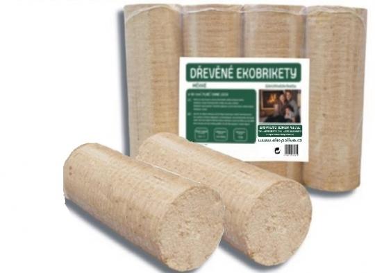 Válcové ekobrikety z měkkého dřeva - TOP - Ekobrikety s vysokou výhřevností