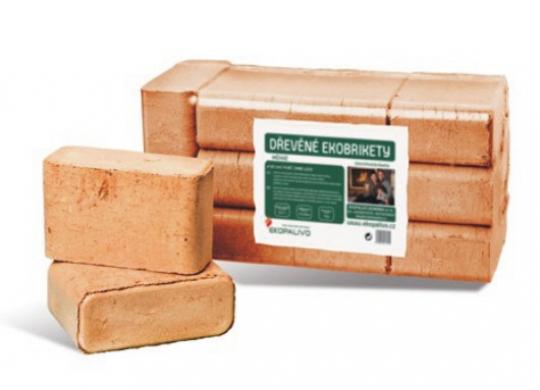 Ekobrikety hranaté RUF z tvrdého dřeva - Hranaté ekobrikety se střední dobou hoření