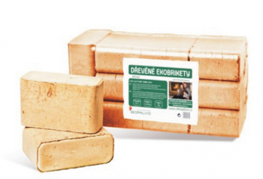 Ekobrikety hranaté RUF z měkkého dřeva - Hranaté ekobrikety se střední dobou hoření